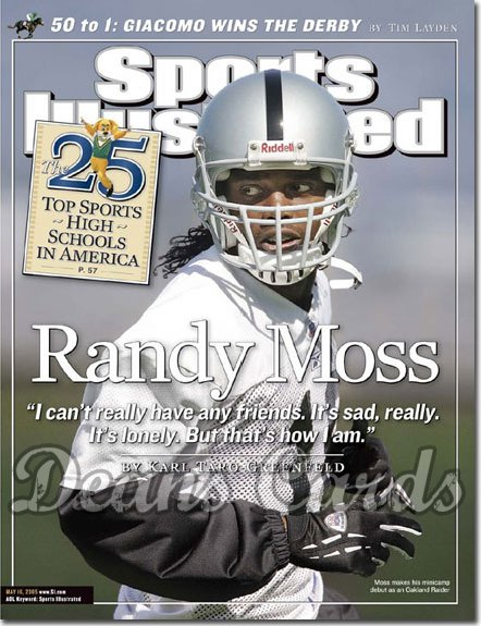 2005 Sports Illustrated - No Label   May 16  -  Randy Moss Oakland Raiders