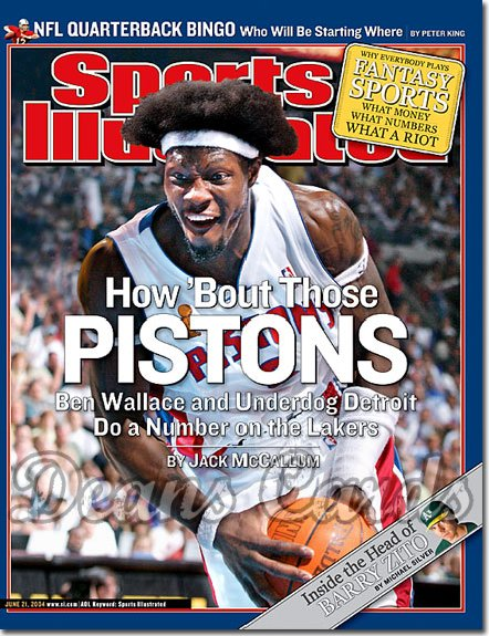 2004 Sports Illustrated - With Label   June 21  -  Ben Wallace Detroit Pistons