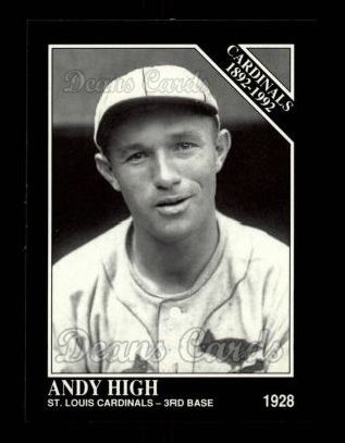 1992 Conlon #648   -  Andy High Cardinals 1982-