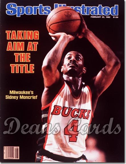 1982 Sports Illustrated   February 22  -  Sidney Moncrief Milwaukee Bucks