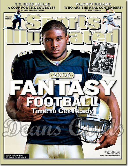 2006 Sports Illustrated - With Label   July 24  -  Reggie Bush New Orleans Saints
