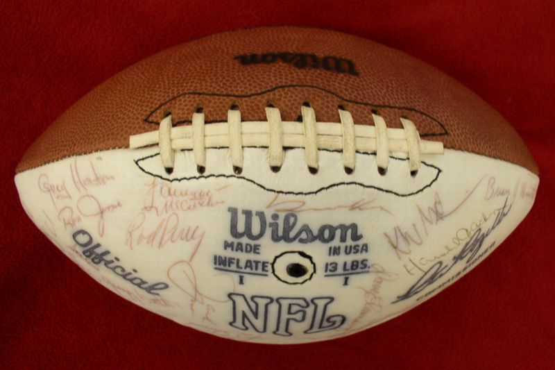 1976 #0   Los Angeles Rams Team Signed Football
