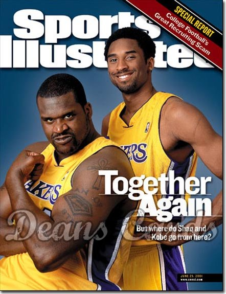 2001 Sports Illustrated   June 25  -  Shaquille O'Neal & Kobe Bryant LA Lakers