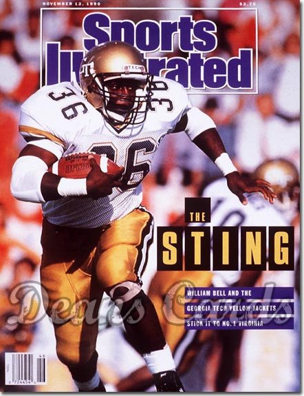 1990 Sports Illustrated - With Label   November 12  -  William Bell (Georgia Tech Yellow Jackets)