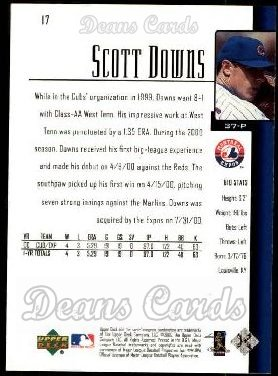 2001 Upper Deck #17  Scott Downs