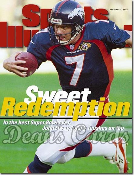 1998 Sports Illustrated - With Label   February 2  -  John Elway (Denver Broncos)