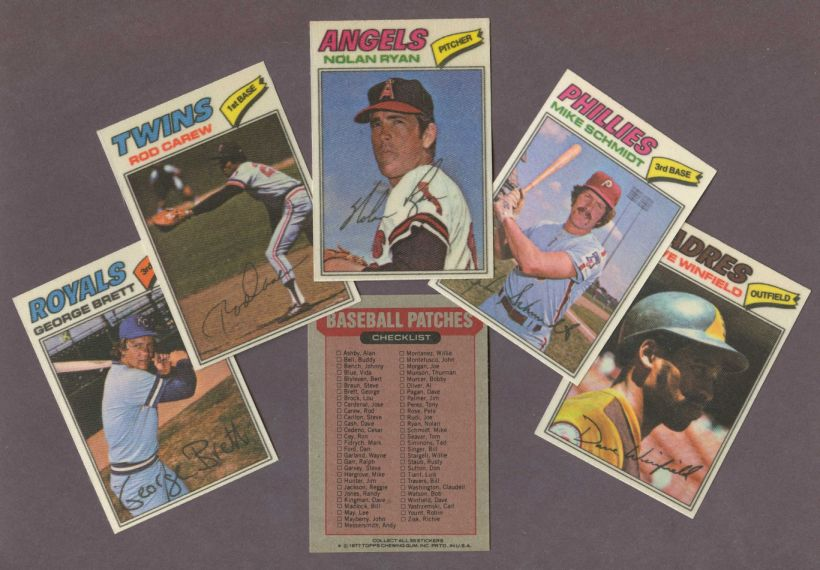 1977 Topps Cloth     Baseball Stickers Complete Set