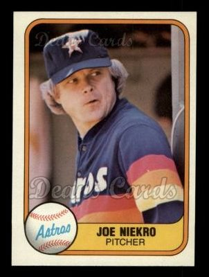 1981 Fleer #54  Joe Niekro