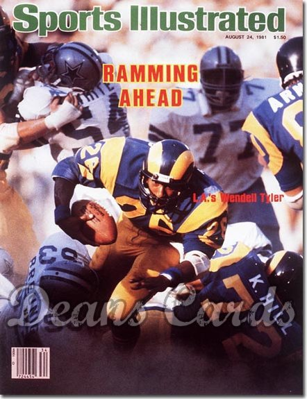 1981 Sports Illustrated - With Label   August 24  -  Wendell Tyler (Los Angeles Rams)