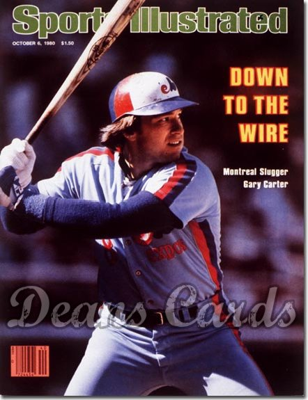 1980 Sports Illustrated - With Label   October 6  -  Gary Carter Montreal Expos