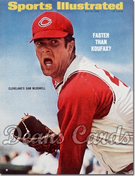 1966 Sports Illustrated - With Label   May 23  -  Sam McDowell (Cleveland Indians)