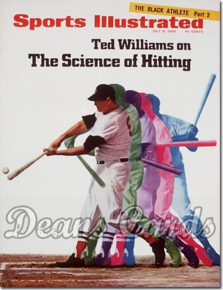 1968 Sports Illustrated   July 8  -  Ted Williams (Boston)