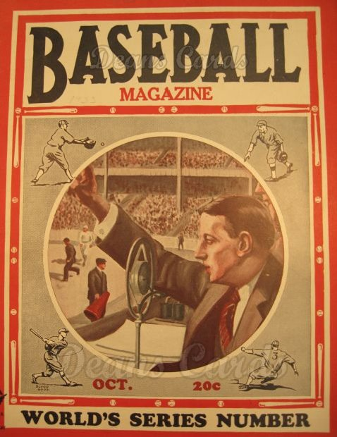 1933 Baseball Magazine    October
