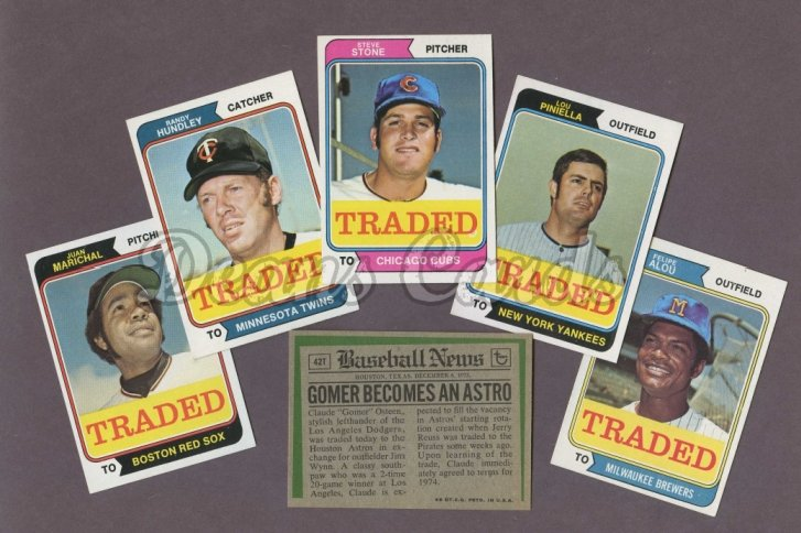 1974 Topps Traded     Baseball Complete Set