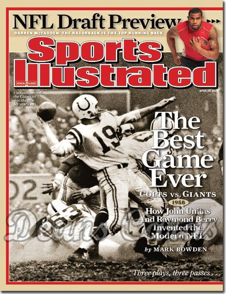 2008 Sports Illustrated   April 28  -  Johnny Unitas