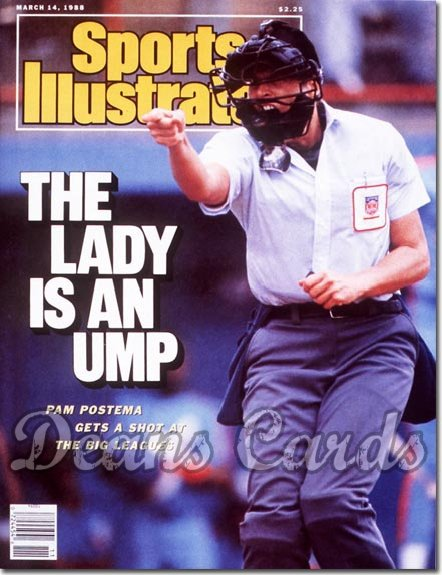 1988 Sports Illustrated - With Label   March 14  -  Pam Postema (Female Umpire)