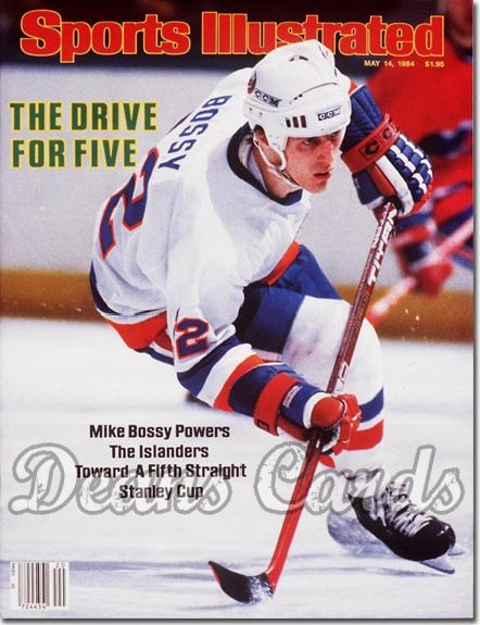 1984 Sports Illustrated - With Label   May 14  -  Mike Bossy (New York Islanders)