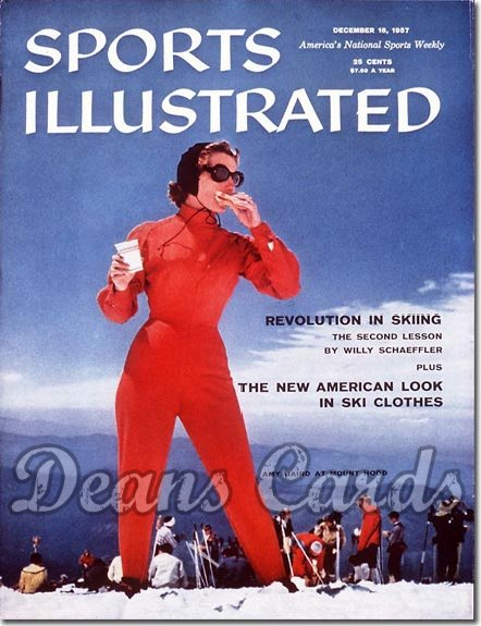 1957 Sports Illustrated - With Label   December 16  -  Amy Baird (Skiing / Skier)