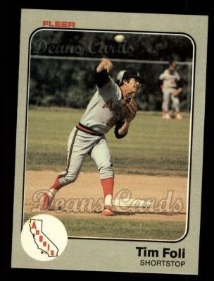 1983 Fleer #88  Tim Foli