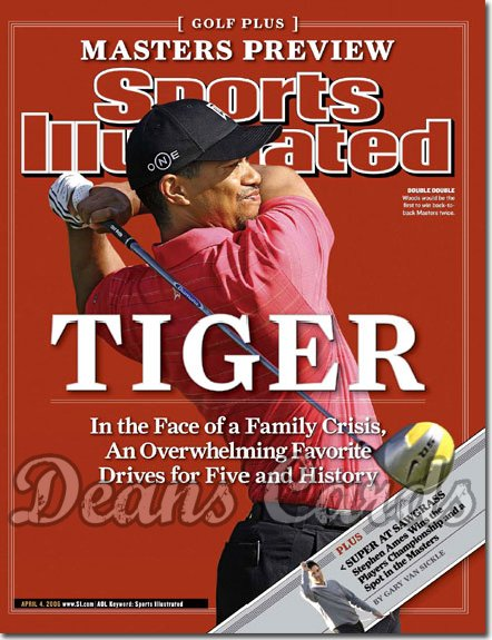 2006 Sports Illustrated - With Label   April 4  -  Tiger Woods Golf Plus Issue #1
