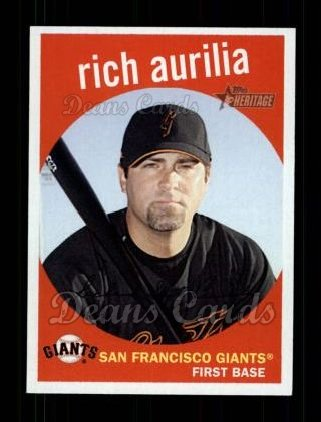 2008 Topps Heritage #256  Rich Aurilia