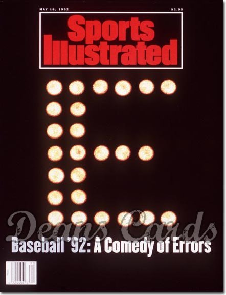 1992 Sports Illustrated - With Label   May 18  -  Baseball Errors