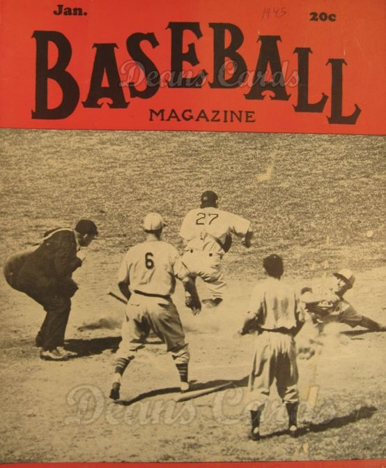 1945 Baseball Magazine    January