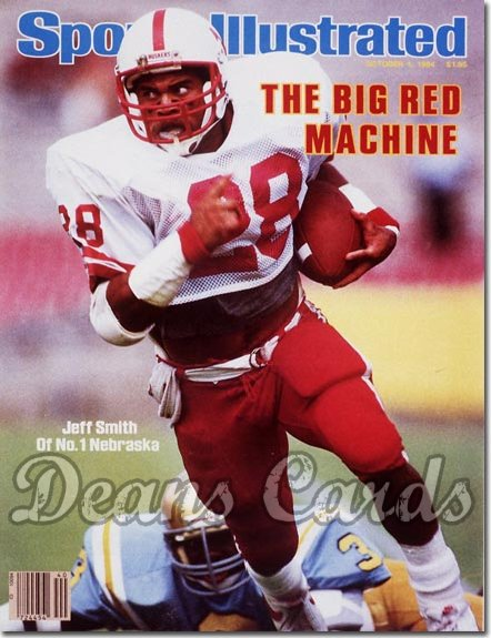1984 Sports Illustrated - With Label   October 1  -  Jeff Smith (Nebraska Cornhuskers)