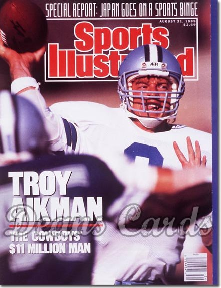 1989 Sports Illustrated - No Label   August 21  -  Troy Aikman (Dallas Cowboys)