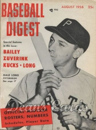 1956 Baseball Digest   -  Dale Long  August