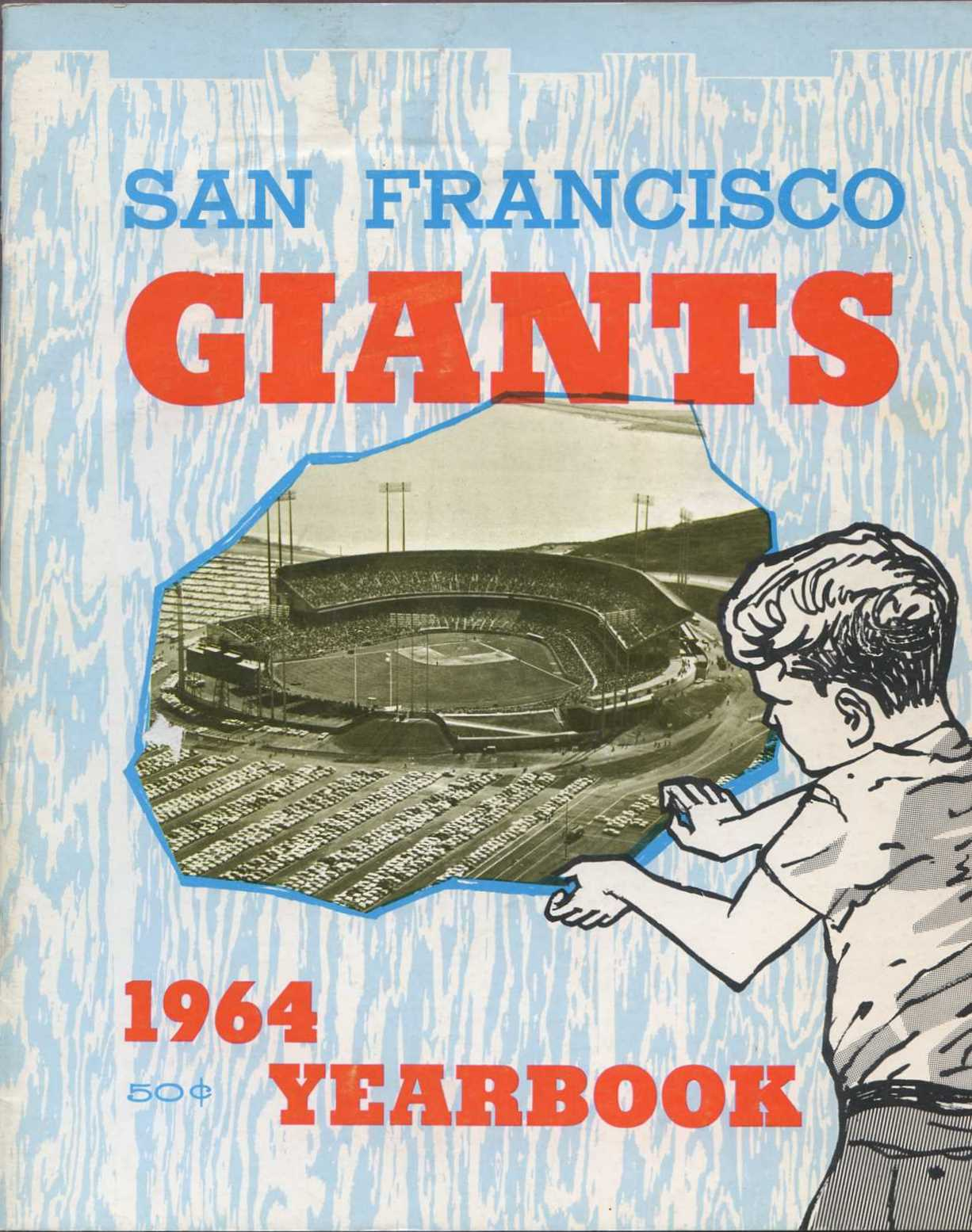 1964 San Francisco Giants Yearbook - Child looking at Candlestick
