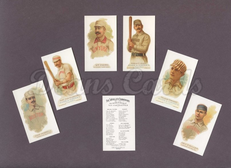 1887 N28 Allen & Ginter Reprints    Allen & Ginter N28 and N29 Reprints Complete Set