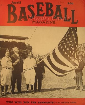 1941 Baseball Magazine    April