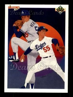 1990 Upper Deck #10   -  Orel Hershiser Los Angeles Dodgers Team