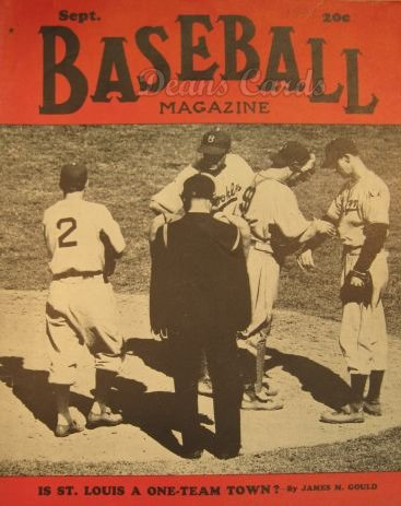 1939 Baseball Magazine    September