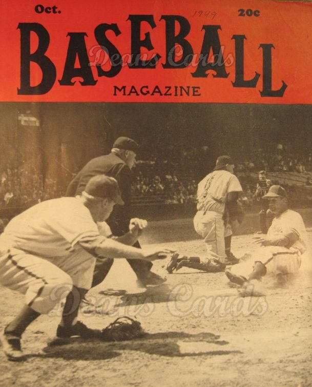 1949 Baseball Magazine    October