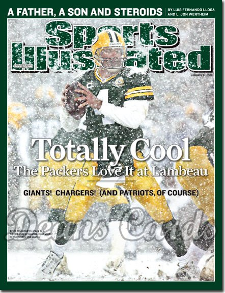 2008 Sports Illustrated   January 21  -  Brett Favre