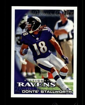 2010 Topps #237  Donte Stallworth