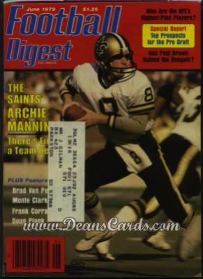 1979 Football Digest    May/June  - Archie Manning