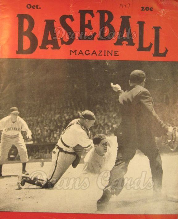 1947 Baseball Magazine    October