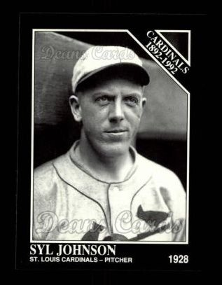 1992 Conlon #654   -  Syl Johnson Cardinals 1982-