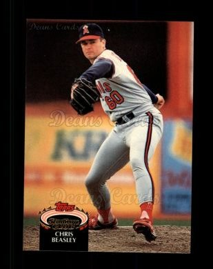 1992 Topps Stadium Club #492  Chris Beasley