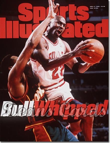 1996 Sports Illustrated - With Label   June 17  -  Michael Jordan (Chicago Bulls)