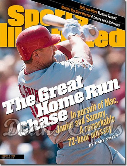 1998 Sports Illustrated - With Label   August 3  -  Mark McGwire (St. Louis Cardinals)