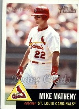 2002 Topps Heritage #72  Mike Matheny