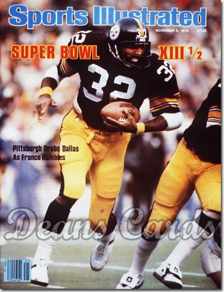 1979 Sports Illustrated - With Label   November 5  -  Franco Harris (Pittsburgh)