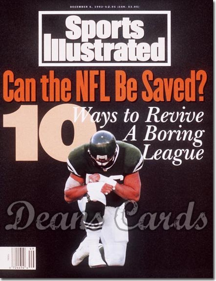 1993 Sports Illustrated - With Label   December 6  -  Jeff Lageman (NY Jets)