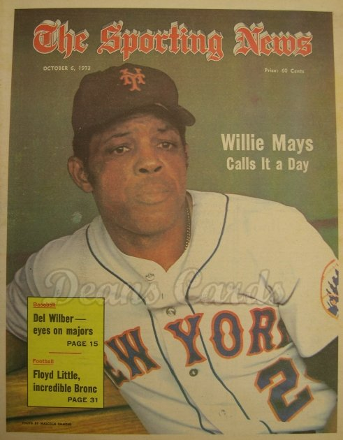 1973 The Sporting News   October 6  - Willie Mays Calls It A Career