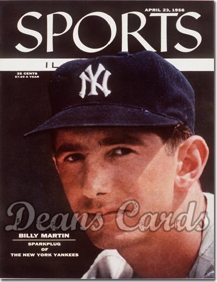 1956 Sports Illustrated   April 23  -  Billy Martin (New York Yankees)