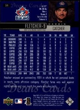 2000 Upper Deck #519  Darrin Fletcher